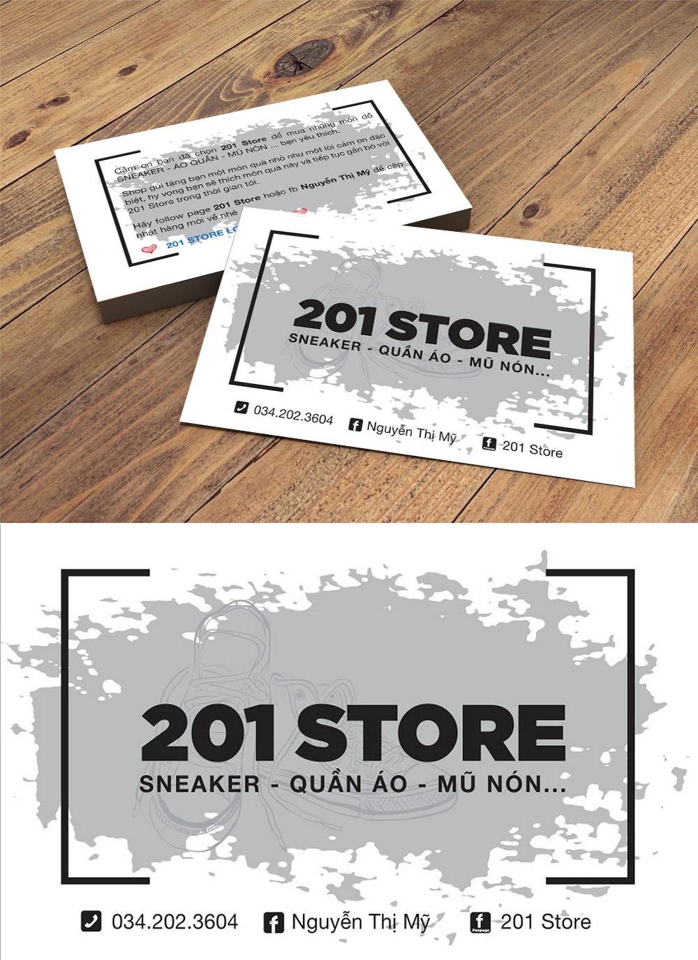 Mẫu danh thiếp namecard tiệm quần áo